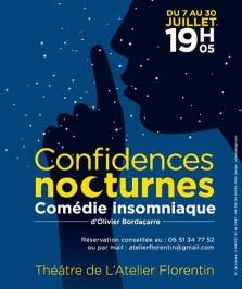 """""""Confidences nocturnes - comédie insomniaque"""", d'Olivier Bordaçarre"""""""