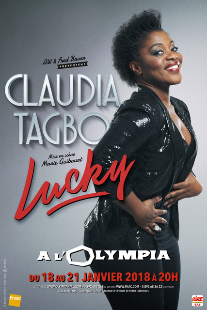 "Claudia Tagbo jouera son nouveau spectacle ""Lucky"""