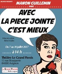 """""""Avec la pièce jointe c'est mieux"""", de et avec Manon Guillemin"""