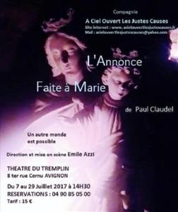 """""""Annonce faite à Marie (L')"""", de Paul Claudel"""