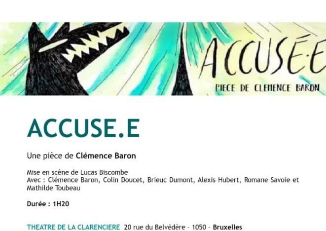 """""""Accusé.e"""", de Clémence BARON"""